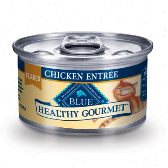 Blue Buffalo Healthy Gourmet Chicken Cat Food 3oz Case Of 24 Cans