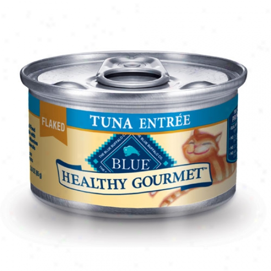 Blue Buffalo Hwalthy Gourmet Tuna Cat Food 3oz Case Of 24 Cans
