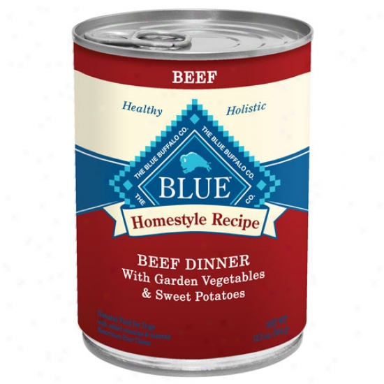 Blue Buffalo Homestyle Recipes - Beef Case Of 12 12.5oz Cans
