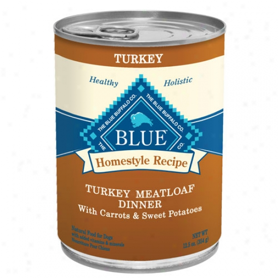 Blue Buffalo Homestyle Recipes - Turkey Meatloaf Case Of 12 12.5oz Cans
