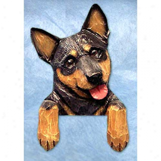 Blue Merle Australian Cattle Dog Door Topper