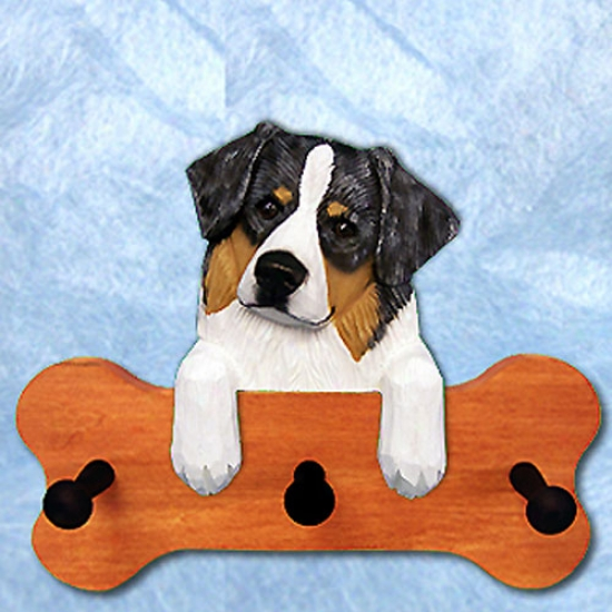 Blue Merle Australian Shepherd Bone Hang Up Maple Finish