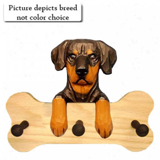 Blue Essential Doberman Pinscher Bone Hang Up Fool Oak