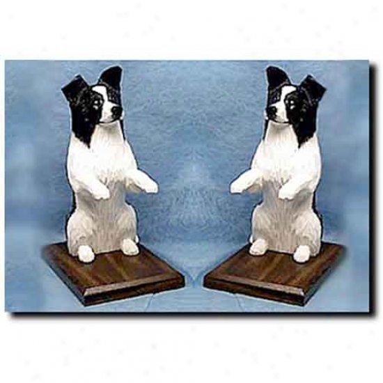 Border Collie Bookends Black