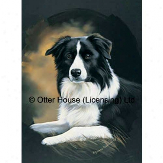 Border Collie Garden Flag By Pollyanna Pickering
