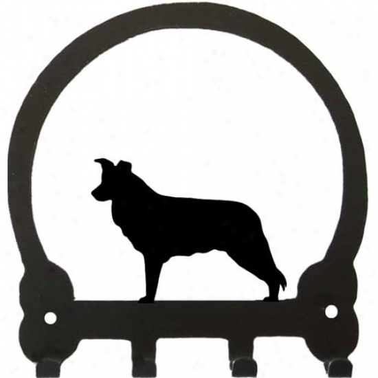 Border Collie Key Rack By Sweeney Ridge