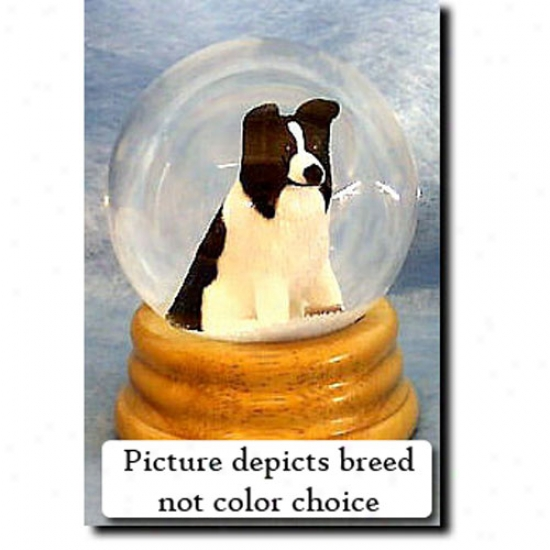 Border Collie (red Musical Snow Sphere