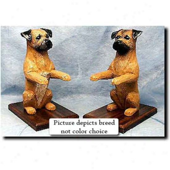 Border Terrier Bookends Wheaten