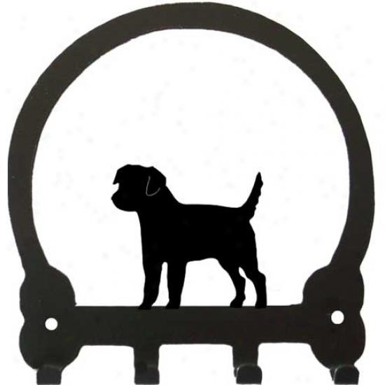 Border Terrier Key Rack By Sweenry Extended elevation