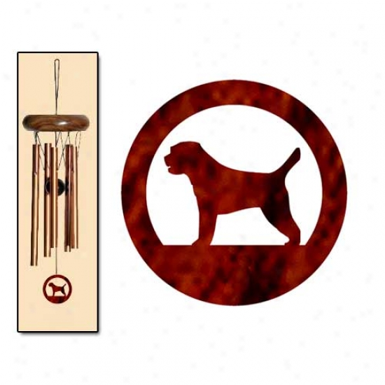 Border Terrier Wind Chimes X-small Bronze