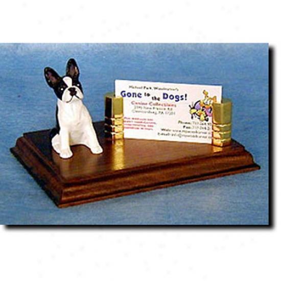 Boston Terrier Business Card Holder