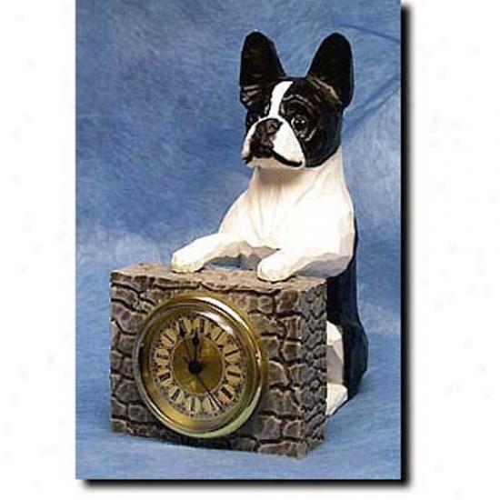 Boston Terrier Mantle Clock