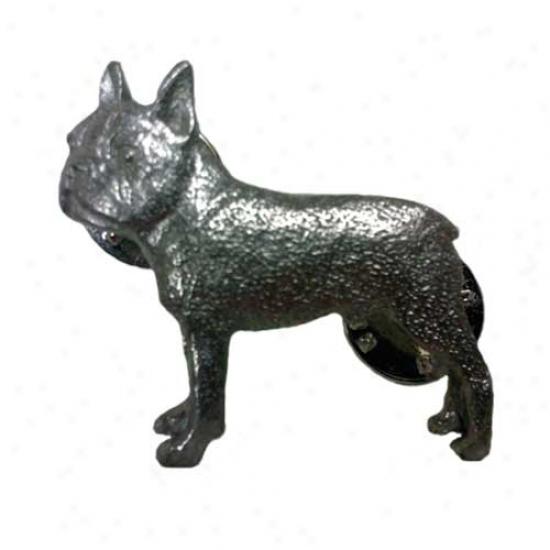Boston Terrier Pewter Pin