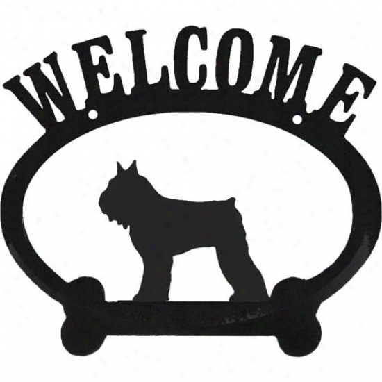 Bouvier Des Flanders Metal Welcome Sign