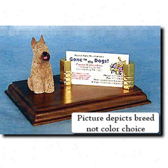 Bouvier Des Flandres (grey) Business Card Holder