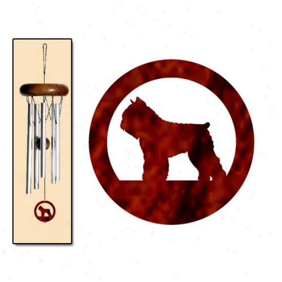 Bouvier Des Flandres Wind Chimes X-small Silver