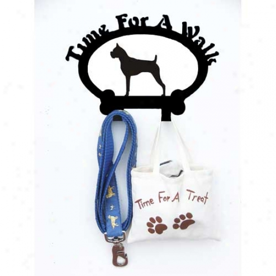 Boxer Leash Holder Cropped Ears