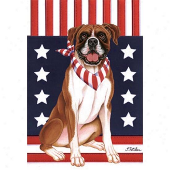 Boxer Patriotic Breed Flag