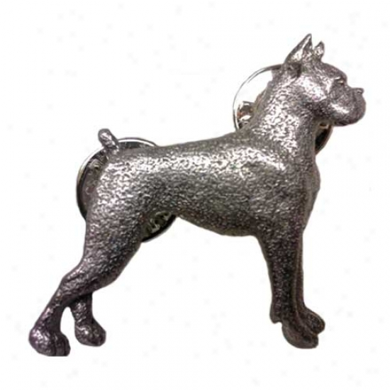 Boxer Pewter Pin