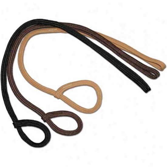 Braided Parachute Nylon Loop Lead (3/8 Inch X 36 Inches Long) Black