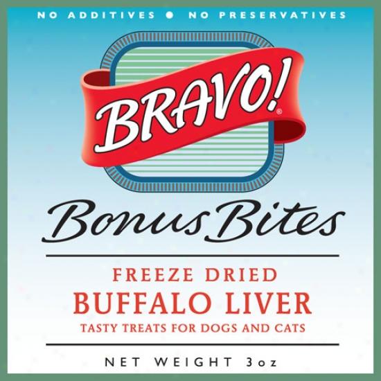 Bravo Freeze Dried Grass Fed Buffalo Liver 3oz