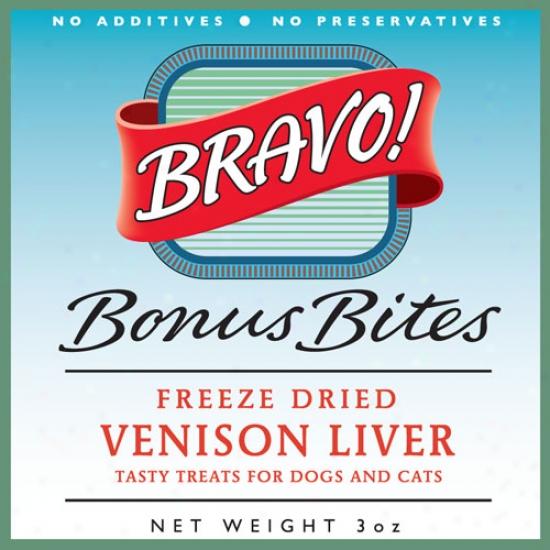 Bravo Freeze Dried Grass Fed Venson Liver 3oz