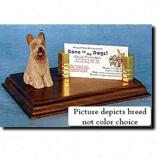 Briard (tawny) Business Card Holder