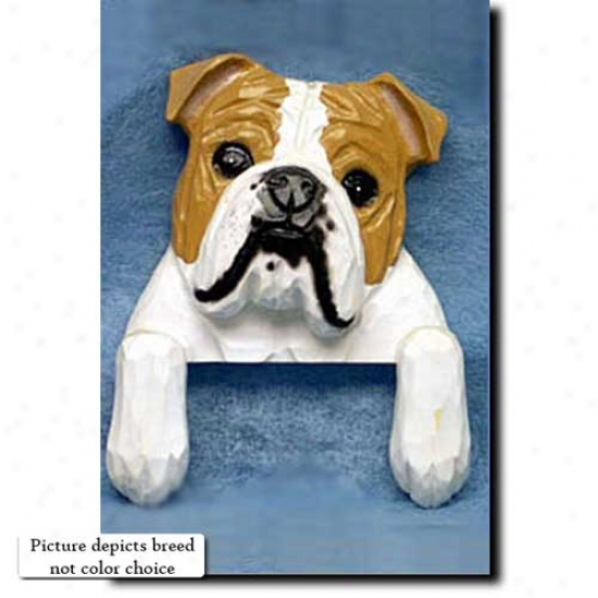 Brindle And White Bulldog House Topper