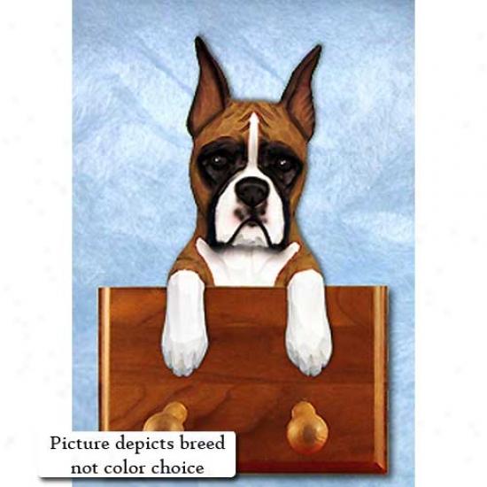 Brindle Boxer Leash Holder