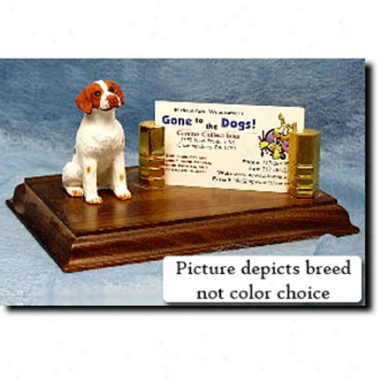 Brittany (liver And White) Business Card Hplder