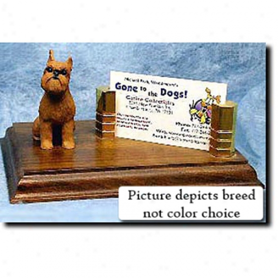 Brussels Griffon (red) Business Card Holder