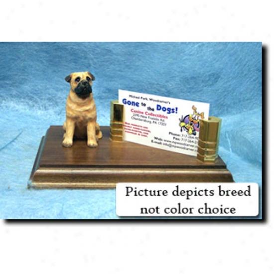 Bull Mastiff (red) Buusiness Card Holder