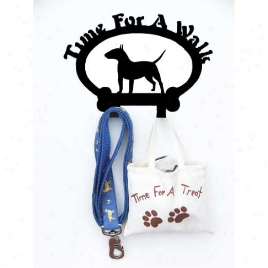 Bull Terrier Leash Holder