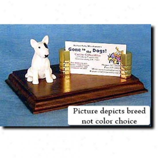 Bull Terrier (red) Busniess Card Holder