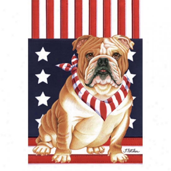 Bulldog Patriotic Breed Flag