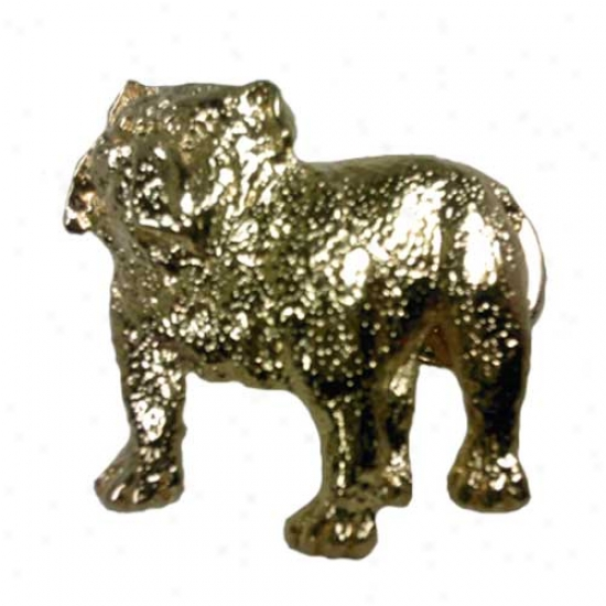 Bulldog Pin 24k Gold Plated