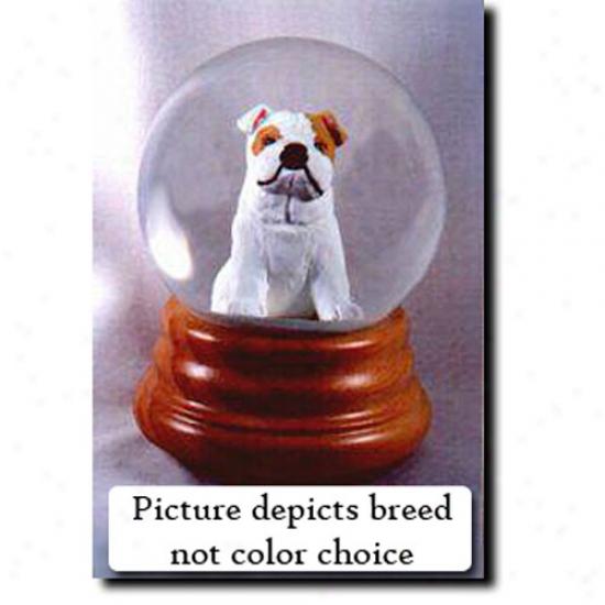 Bulldog (red) Melodious Snow Globe