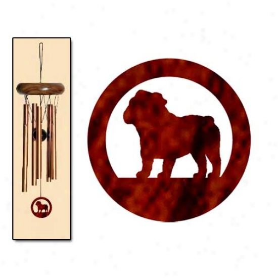 Bulldog Wind Chimes X-small Brown