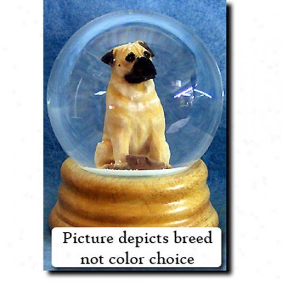 Bullmastiff (fawn )Musical Snow Globe