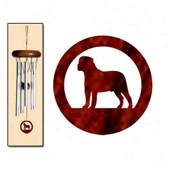 Bullmastiff Wind Chimes X-small Silver