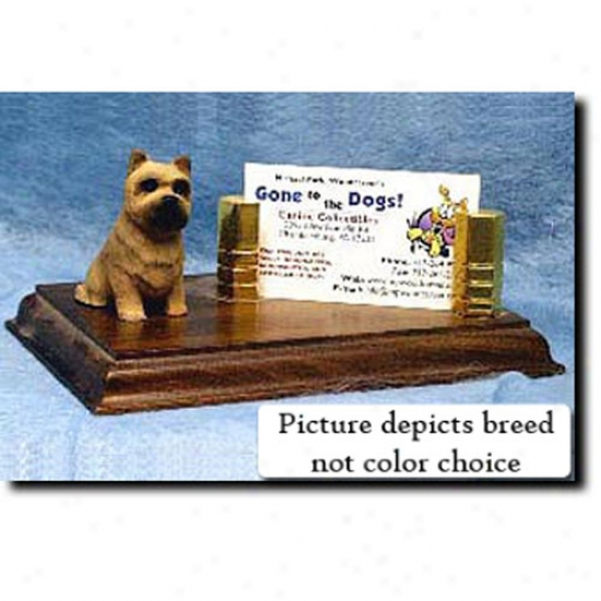 Cairn Terrier (black And Brindle) Business Card Holder