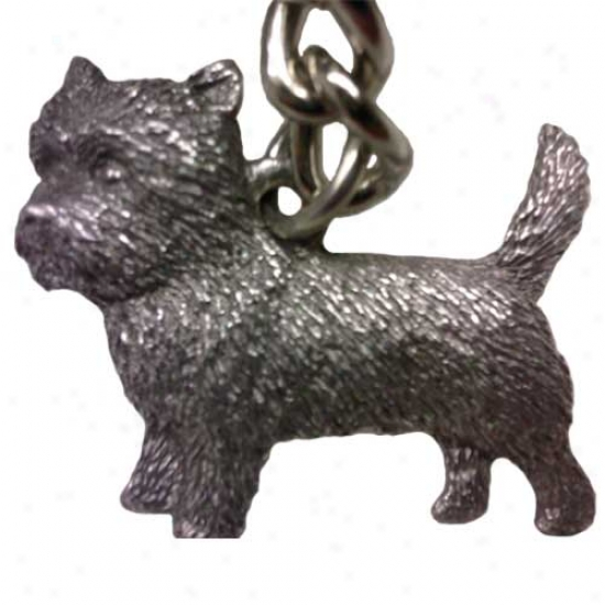 Cairn Terrier George Harris Pewter Keychain