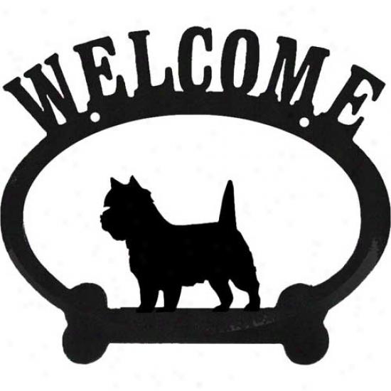 Cairn Terrier Metal Welcome Sign