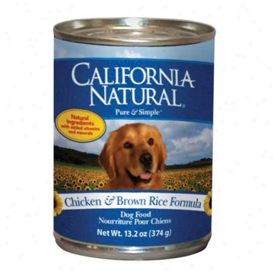 California Natural Chicken And Rice Dog Food Case Of 12 13.2oz Cans