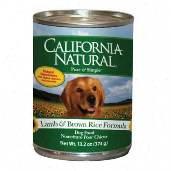 California Natural Lamb And Rice Dog Feed Case Of 12 13.2oz Cans
