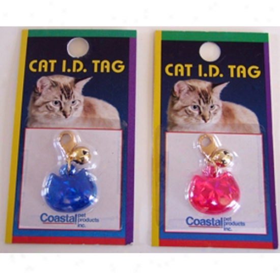Cat Id Tag - Blue / Kitty Snaped