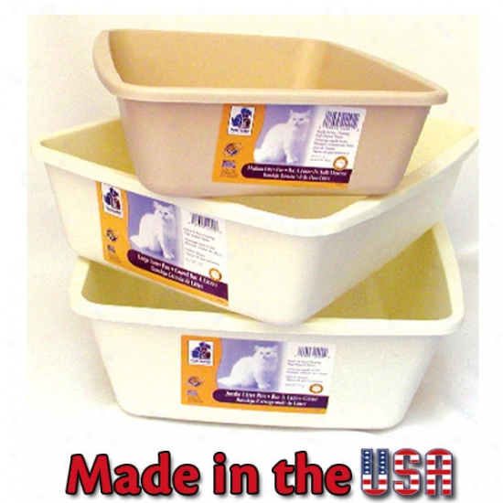 "Cat Litter Pan Jumbo (22""l X 16 3/4""w X 6 3/4""h) Assorted Colors"