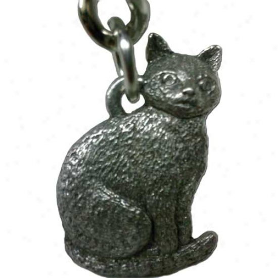 Cat Sitting Keychain