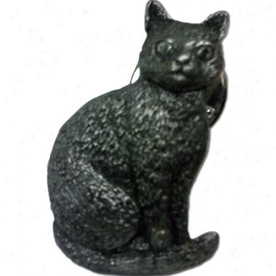 Cat (sitting) Pewter Pin