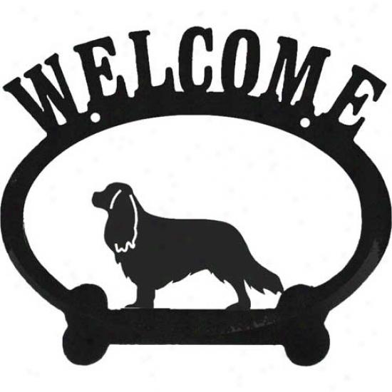 Cavalier King Charlds Spaniel Metql Welcome Sigh